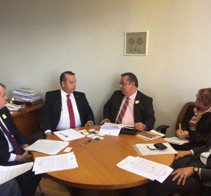 Reunião com o deputado Rogério Marinho relator da reforma trabalhista em Brasília, acompanhando o grupo da Amcham SP