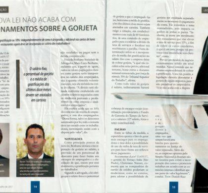 Maria Lucia Benhame em entrevista para Contas em Revista – Nova lei não acaba com questionamento sobre a gorjeta