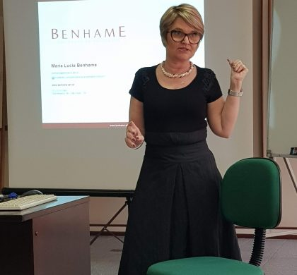 Dra. Maria Lucia Benhame em treinamento sobre Reforma Trabalhista