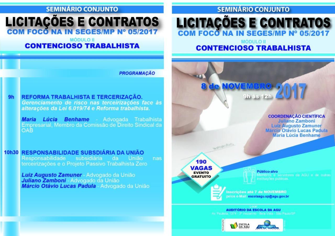 Dra. Maria Lucia Benhame em palestra sobre Reforma Trabalhista e Terceirização