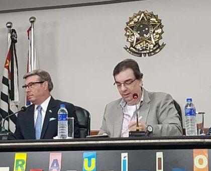 Dr. Mário esteve palestrando no Evento da OAB SP no sábado de carnaval
