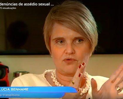 Maria Lucia fala ao jornal da Record sobre assédio sexual