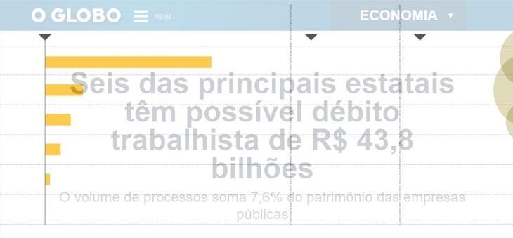 Dra. Maria Lucia Benhame em matéria O Globo sobre passivo bilionário das empresas estatais