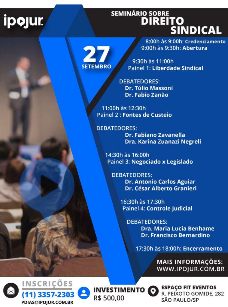 Seminário sobre Direito Sindical