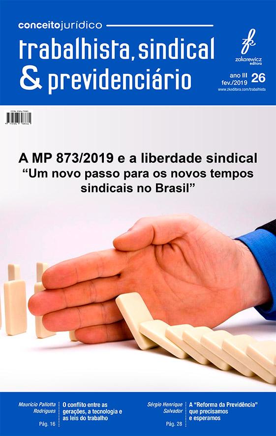 A MP 873/2019 e a liberdade sindical