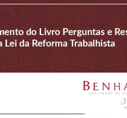 Lançamento do Livro Perguntas e Respostas sobre a Lei da Reforma Trabalhista
