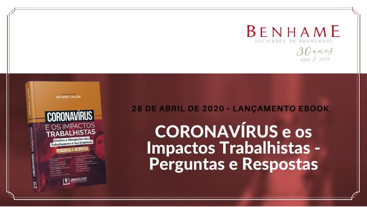 Lançamento eBook – CORONAVÍRUS e os Impactos Trabalhistas