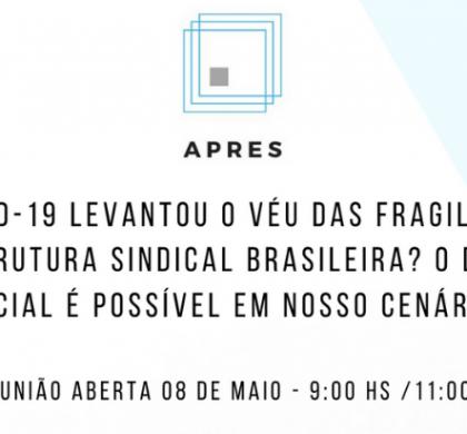 Reunião virtual APRES – 08 DE MAIO 2020