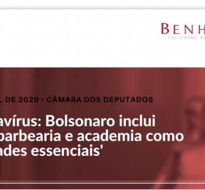 Coronavírus: Bolsonaro inclui salão, barbearia e academia como 'atividades essenciais'