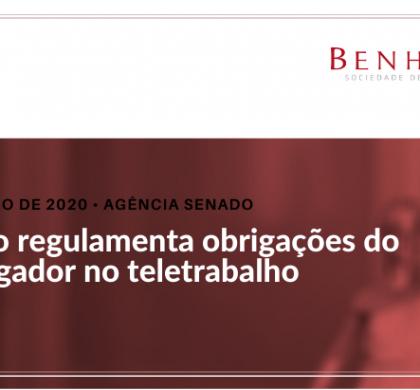Projeto regulamenta obrigações do empregador no teletrabalho
