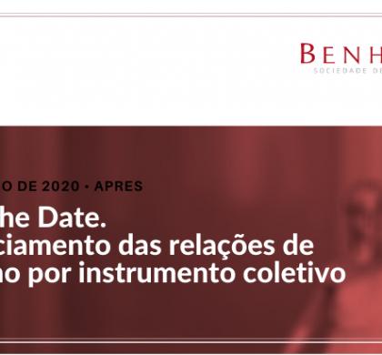 SAVE THE DATE – Gerenciamento das relações de trabalho por instrumento coletivo