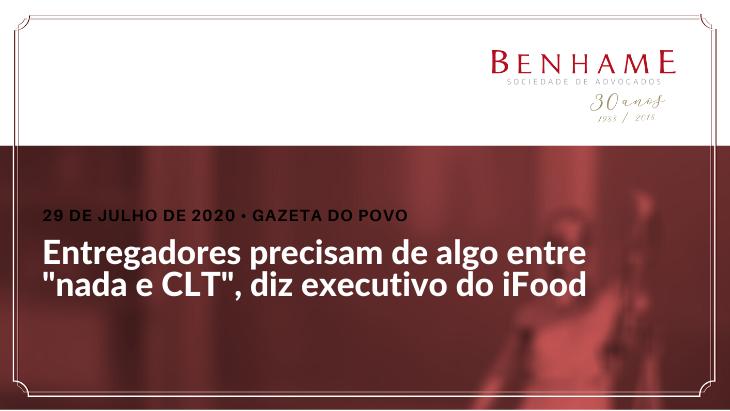 """Entregadores precisam de algo entre """"nada e CLT"""", diz executivo do iFood"""