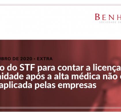 Decisão do STF para contar a licença maternidade após a alta médica não está sendo aplicada pelas empresas