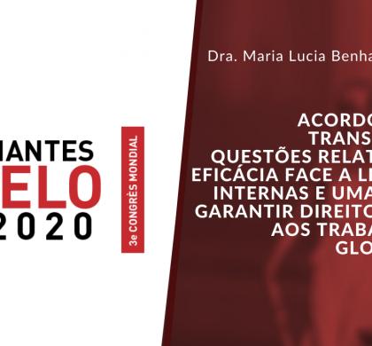 3e CONGRÈS MONDIAL CIELO LABORAL 2020 – ACORDO COLETIVO TRANSNACIONAL